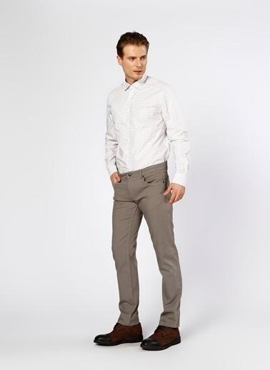 Cotton Bar Kareli Uzun Kollu Gömlek Bej